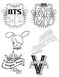 Bts coloring pages, 50 pieces. Kpop Coloring Pages Coloring Pages Kids 2019