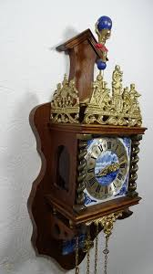 large folklore dutch zaandam wall clock