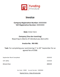 Invoice Statement Example How To Write An Invoice Funding Invoice