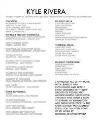 sports resume sample