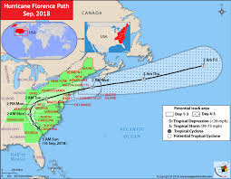 Hurricane Tracking Chart Florence Hurricane Florence Path Map Sep 2018