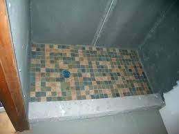 building a concrete shower pan how to make a shower base on concrete installing a shower base on concrete floor