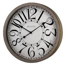 ... Astounding Distressed Wall Clock Large Decorative Wall Clocks Iron  Round Clock Blac And White ...