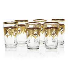 gold filigree tea glasses set of 6