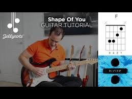 shape of you by ed sheeran guitar tutorial jellynote lesson