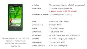 nokia phone 2014 price list. according to the post online by retailer, nokia x a110, or famously known as normandy will be running on android 4.4.2 kitkat out of box phone 2014 price list