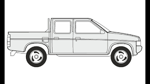 How to Draw a Nissan Pickup Double Cab / Как нарисовать Nissan ...