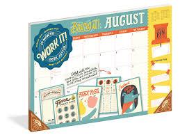 17 Month Calendar Work It 17 Month Desk Jotter 2020