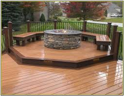 affordable collection fire pit in wood deck best sample wooden