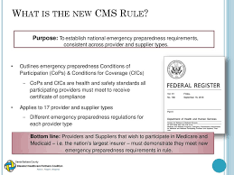 New Cms Emergency Preparedness Rule Ppt Download