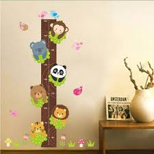 Removable Pvc Children Wall Stickers Large Cartoon Bear Cat Lion Height Growth Chart Decal For Kids Room Decoration Canada 2019 From Kity12 Cad 4 12