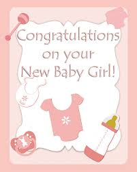 Welcoming Baby Girl Welcoming Baby Girl Card Archives Hashtag Bg