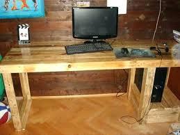 pallet furniture desk. Computer Desk Wood Pallet Diy Pipe Plans Furniture