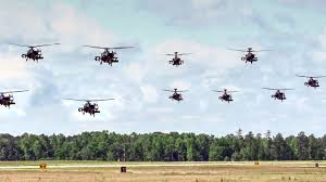 Ah 64 Apache Helicopters Mass Launch