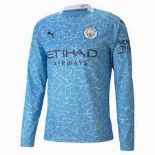 Man City Home Replica Long Sleeve Men's Jersey | Team Light Blue-Peacoat |  PUMA Manchester City