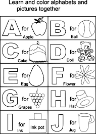 Spanish Alphabet Coloring Pages Raovat24hinfo