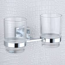 toothbrush holder wall mounted square base 304 stainless steel and copper toothbrush holders with glass cups