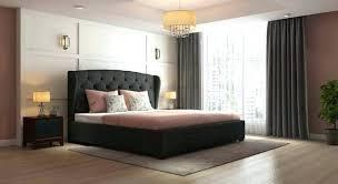 Marvelous Grey Upholstered Single Bed Frame Home Improvement Wilson ...