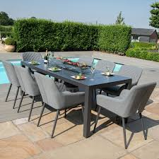 zest 8 seat rectangular dining set