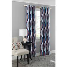 mainstays helix blackout energy efficient grommet curtain panel com