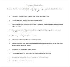 resume outlines resume outlines free resume sample