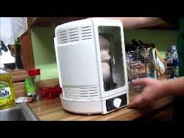 review nutrichef kitchen vertical countertop rotisserie rotating oven white