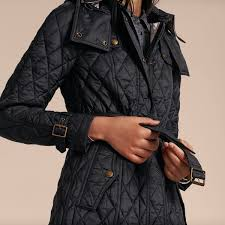 burberry brit finsbridge long quilted coat