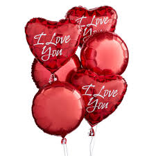 valentines day balloons that say i love you inside balloon bouquets