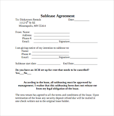 sublease contract template free sublease form sublet agreement form oklmindsproutco sublet