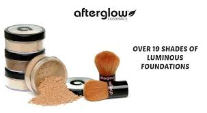 afterglow organic mineral foundation