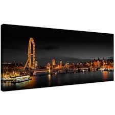 cheap canvas prints uk black white panoramic 1186 display gallery item 1 extra large  on canvas wall art large uk with panoramic canvas wall art of london eye at night for your living room