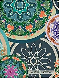 Amazon Com Graph Paper Notebook Mandala Art Square Grid