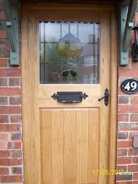brown oak door 2 oiled oak door with stained glass