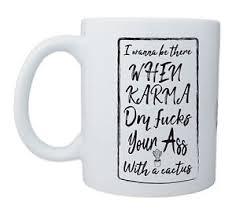 Tasse Mit Spruch Motiv Karma Beidseitig Bedruckt Teetasse