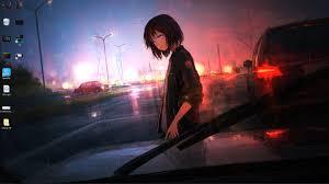 Anime Rain live wallpaper free download