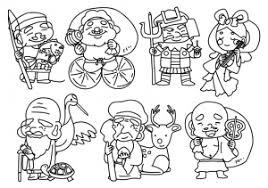 七福神のぬりえ線画イラスト素材 イラスト無料かわいいテンプレート