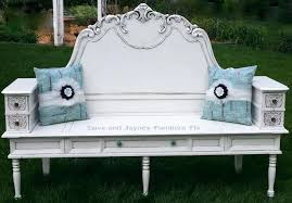 turn a headboard coffee table sewing drawers into bench upcycled ideas