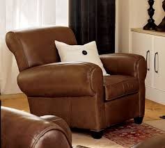 manhattan leather recliner chair pottery barn