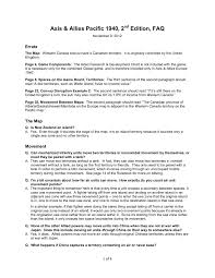 Axis Allies Pacific 1940 2nd Edition Faq Pages 1 4