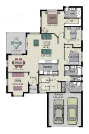 single story home floor plan with 4 bedrooms 2 baths double garage and