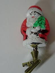 Details Zu Christbaumschmuck Weihnachtsmann Santa Claus Rot Weihnachtsschmuck Glas Alt