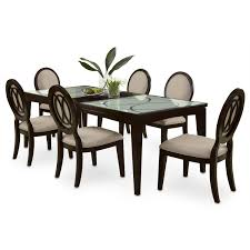 esquire table and 6 chairs cherry american signature furniture