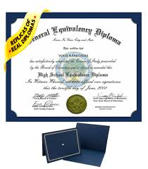 Fake Ged High School Diploma Novelty Diplomas Authentic Looking With Real Layout