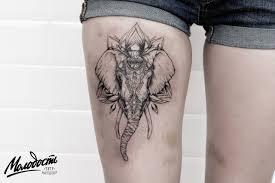 татуировка на бедре у девушки слон фото рисунки эскизы
