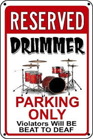 drummer novelty sign drum set funny instrument gift 3 sizes polystyrene ebay
