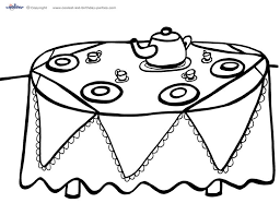 Small Picture Printable Tea Party Coloring Page 4