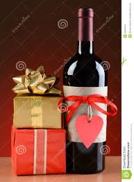 stack wine. Wine Bottle And Valentines Presents Stack T