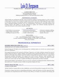 Lpn Resume Sample New Graduate Inventions Of Spring