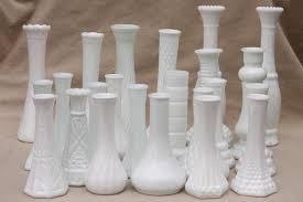 vintage milk glass vases florists vase lot for wedding flowers displays