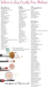 ultimate free makeup brands list